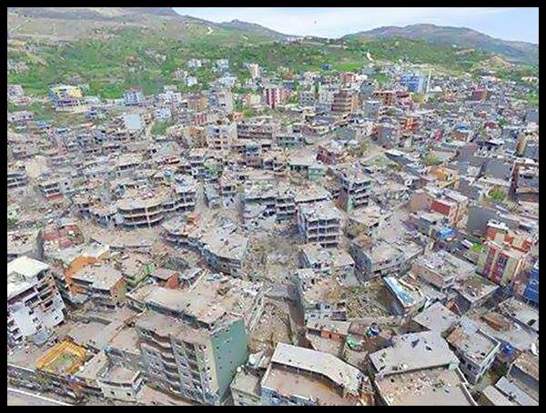 Kurdish city of Simak Southeastern Turkey